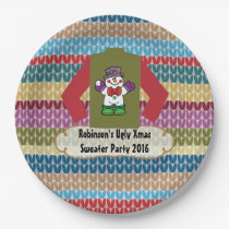 Christmas Ugly Sweater Party Personalised Paper Plate