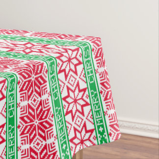 Christmas ugly sweater pattern Holiday tablecloth