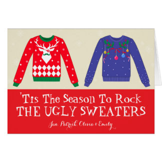 Christmas Ugly Sweaters Card