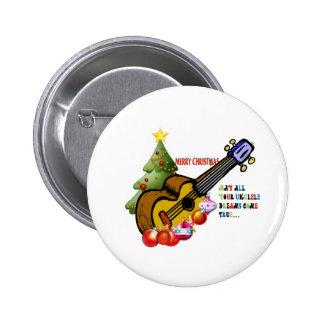 Christmas Ukulele Shirt 6 Cm Round Badge