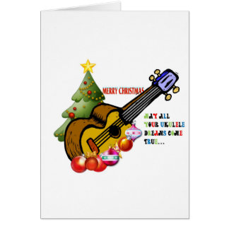 Christmas Ukulele Shirt Card
