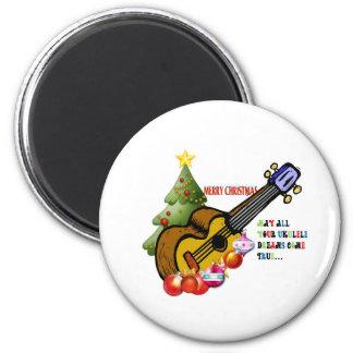Christmas Ukulele Shirt Magnet