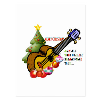 Christmas Ukulele Shirt Postcard