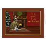 Christmas, Uncle, Old Fashioned Greeting Card
