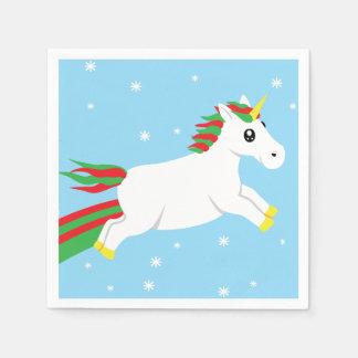 Christmas Unicorn Holiday Napkins Disposable Serviettes