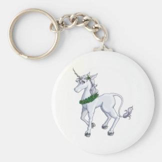 Christmas Unicorn Key Ring