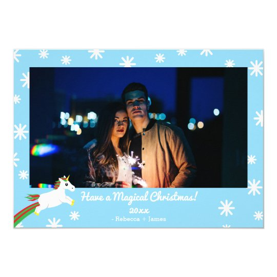 Christmas Unicorn Magical Frame Holiday Card