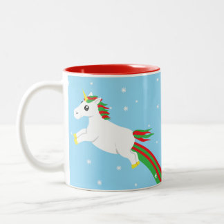 Christmas Unicorn Path Leads To Name - Holiday Mug