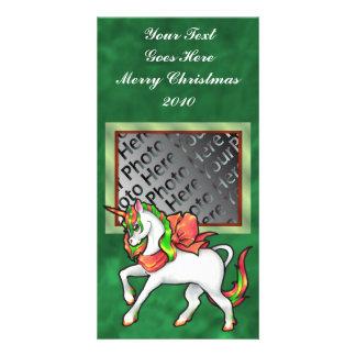 Christmas Unicorn Photo Card