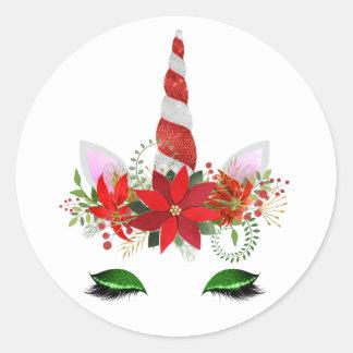 Christmas Unicorn Stickers