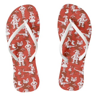 Christmas Unicorns Flip Flops