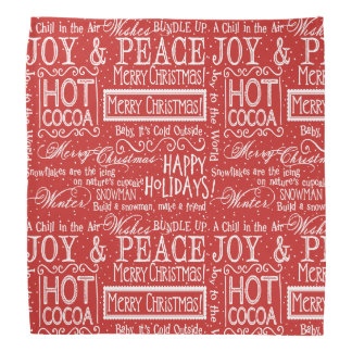 Christmas Verse Red and White Bandana