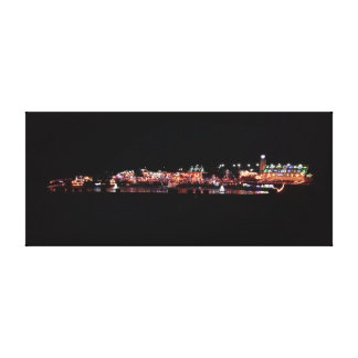 Christmas Village Stretched Canvas Prints
