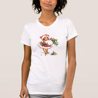Christmas Vintage Girl T-shirts