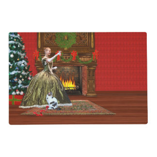 Christmas, Vintage Home, Holiday Toast Placemat
