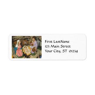 Christmas Vintage Nativity Return Address Label