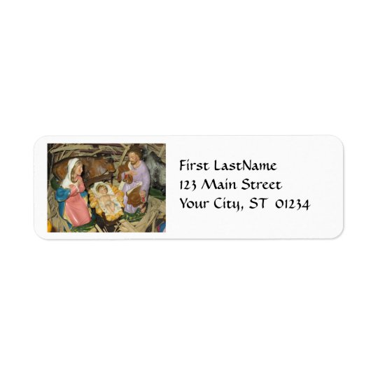 Christmas Vintage Nativity Return Address Label