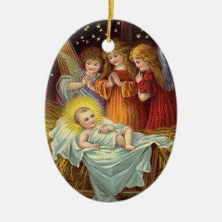 Christmas Vintage Nativity Scene Christmas Ornament