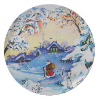 Christmas vintage plate