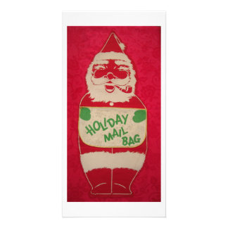 Christmas Vintage Santa Claus Photo Card Template
