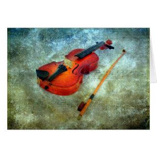 Christmas Violin Greeting Card
