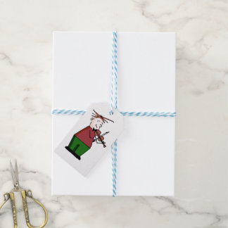 Christmas Violin Guy Gift Tags