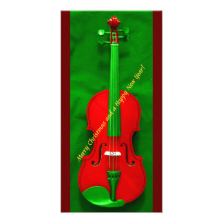 Christmas Violin Personalized Photo Card