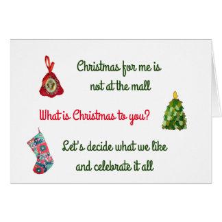 Christmas Visit Card
