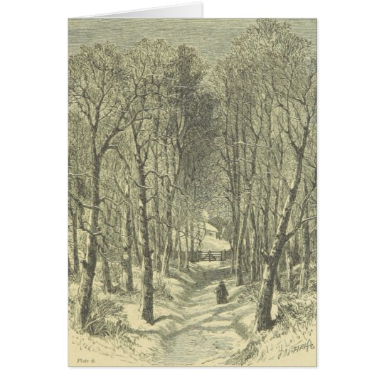 Christmas Walk in the Woods Greeting Card