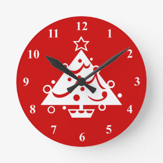 Christmas wall clock decoration