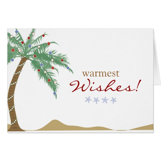 Christmas Warmest Wishes Palm Tree Greeting Card