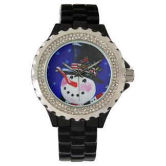 Christmas,watch,snowman,Cardinal,red,birds Watch