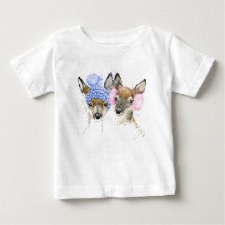 Christmas | Watercolor - Cute Winter Reindeer Baby T-Shirt