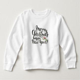 Christmas | Watercolor - Happy New Year Poinsettia Sweatshirt