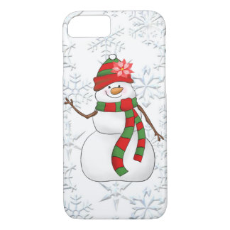 Christmas watercolor snow woman 8/7 case