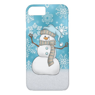 Christmas watercolor snowman 8/7 case