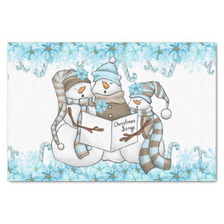 Christmas watercolor snowman Holiday party tissue Tissue Paper