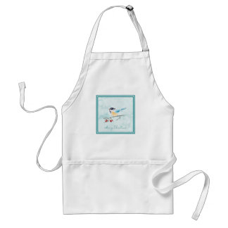 Christmas | Watercolor - Winter Bird & Berries Standard Apron