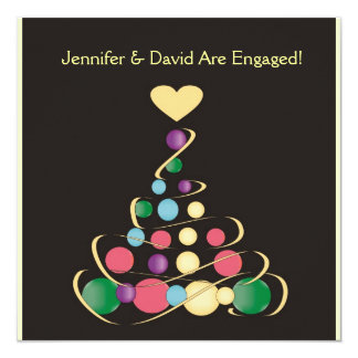 Christmas Wedding Engagement Invitation