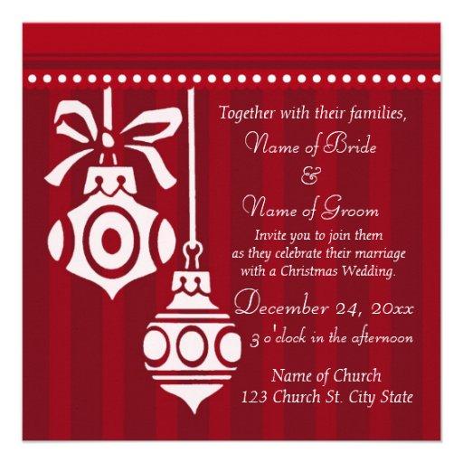 christmas wedding invitation cards 13 cm x 13 cm square