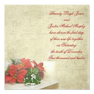 Christmas Wedding Invite