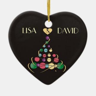 Christmas Wedding Ornament Ceramic Heart Ornament