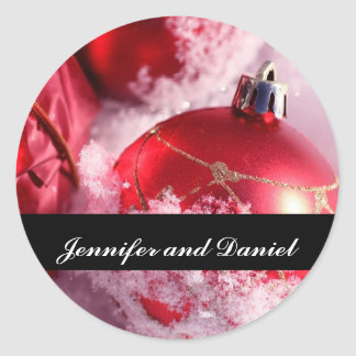 Christmas Wedding Ornament Invitation Seal Sticker