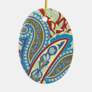 Christmas wedding ornament. Stylish paisley design Christmas Ornament