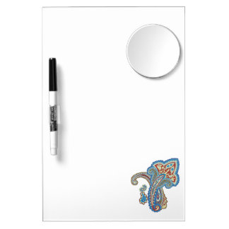 Christmas wedding ornament. Stylish paisley design Dry Erase Board With Mirror