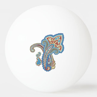 Christmas wedding ornament. Stylish paisley design Ping Pong Ball