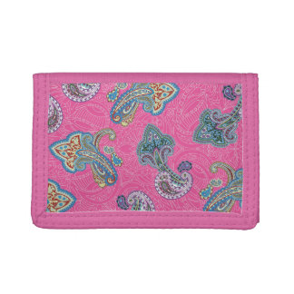 Christmas wedding ornament. Stylish paisley design Tri-fold Wallets
