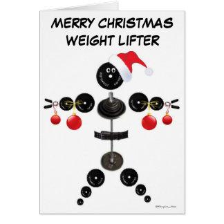 Christmas Weight Lifter Card