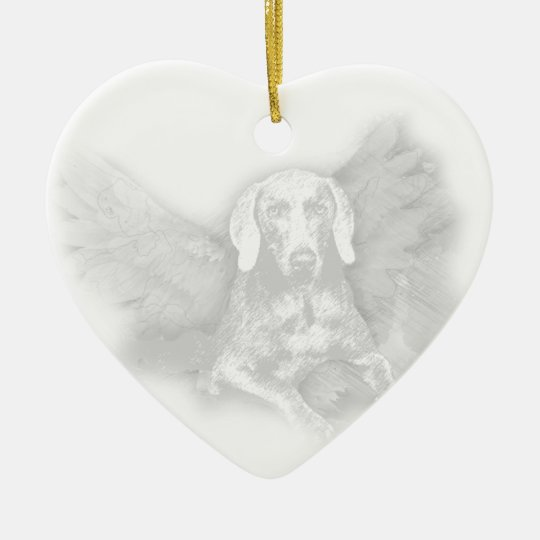CHRISTMAS WEIMARANER ANGEL CHRISTMAS ORNAMENT