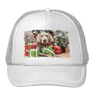 Christmas - Weimaraner - Lucy Trucker Hats